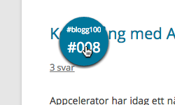 #blogg100 Badge